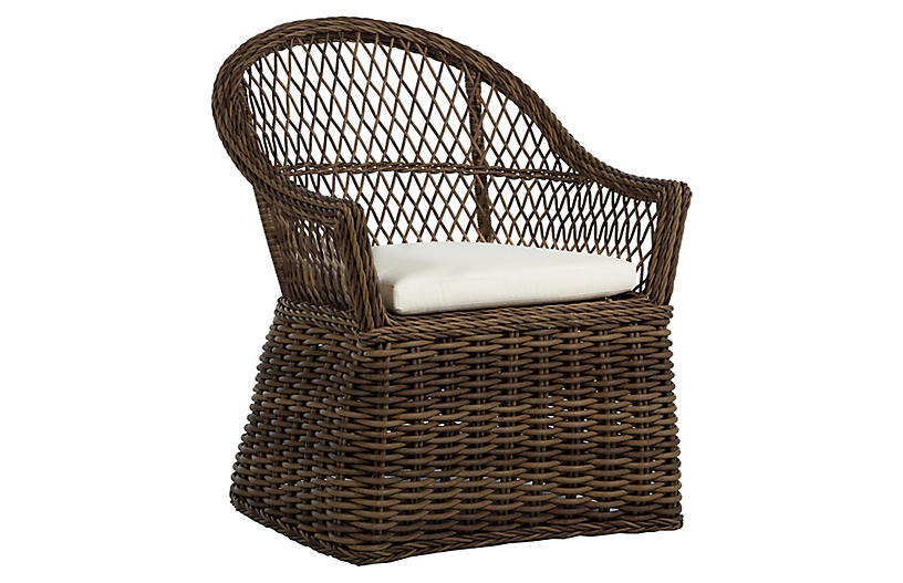 Soho Outdoor Armchair, Raffia