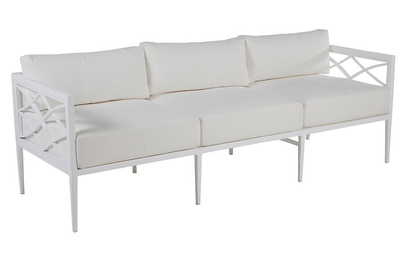 Elegante Outdoor Sofa, Chalk White