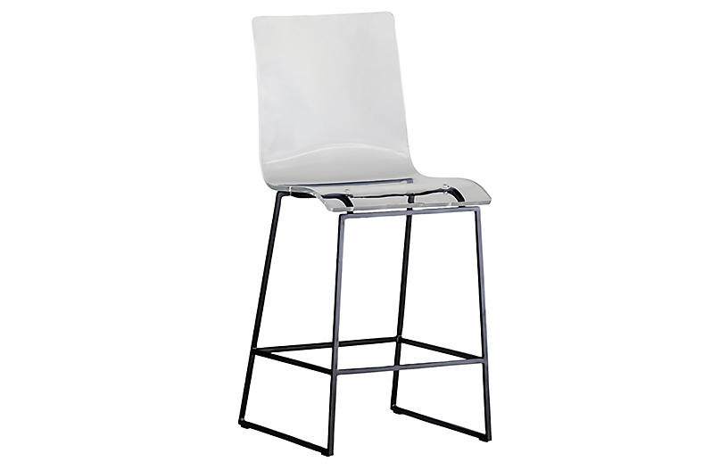 Claro Acrylic Outdoor Counter Stool, Ancient Earth