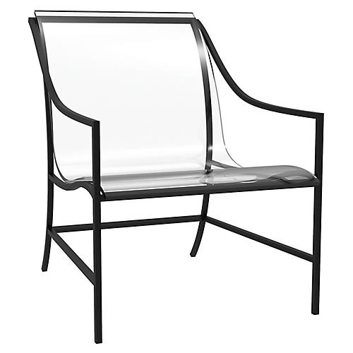 Claro Acrylic Outdoor Lounge Chair, Ancient Earth