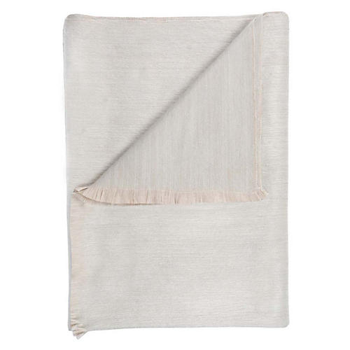 Alpaca-Blend Throw, Ivory