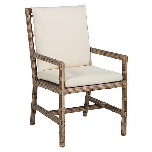 Newport Outdoor Armchair, Burlap