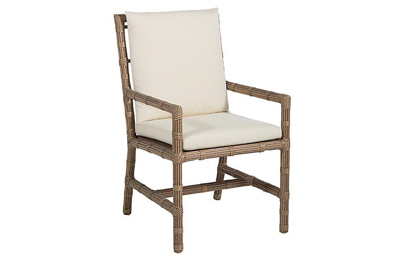 Newport Outdoor Armchair, Burlap