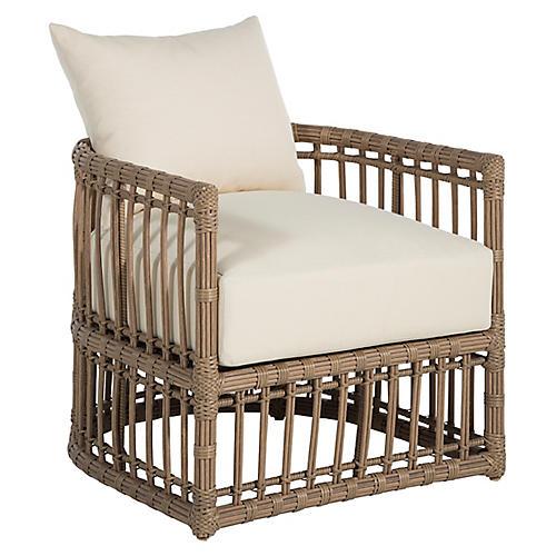 Newport Outdoor Barrel Chair, Burlap