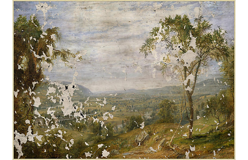 Lillian August, Crackled Country Scene