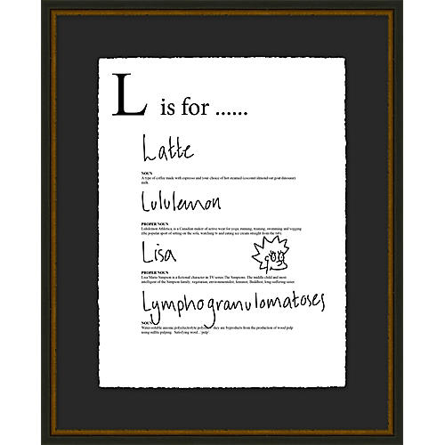 Jo Sampson, L is For