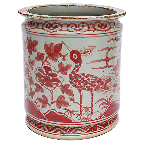 "10"" Orchid Pot, Red"