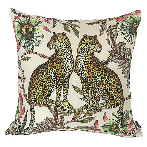 Leopard 20x20 Pillow, Pink/Multi