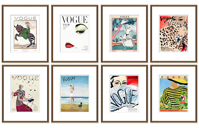 Vogue Magazine Covers, Set of 8
