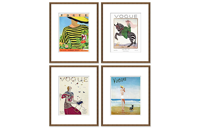 Vogue Magazine Covers, Set of 4