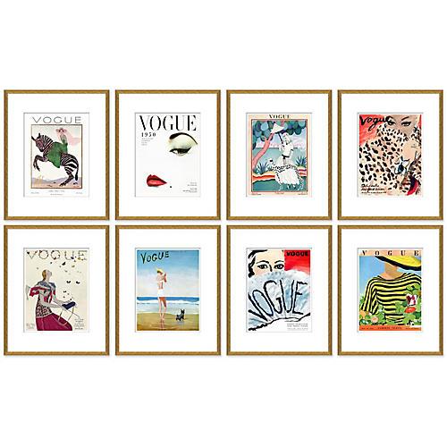 Vogue Magazine Covers, Set of 8