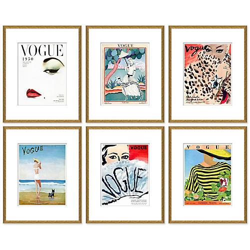 Vogue Magazine Covers, Set of 6