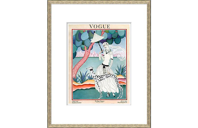 Vogue Magazine Cover, Walking Dog