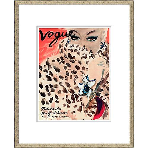 Vogue Magazine Cover, Leopard Cat Woman