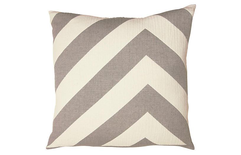 Lagom pillow Cotton Pillow, Pewter
