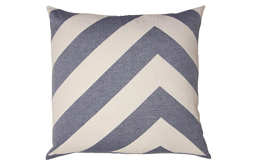 Lagom pillow Cotton Pillow, Indigo