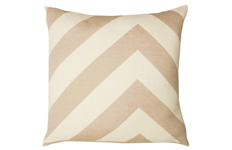 Lagom pillow Cotton Pillow, Taupe