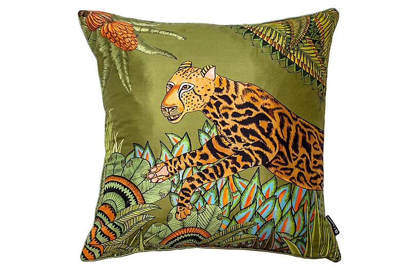 Cheetah Kings 16x16 Pillow, Delta