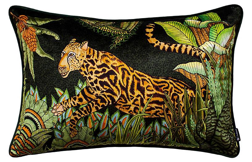 Cheetah Kings 16x24 Lumbar Pillow, Delta Velvet