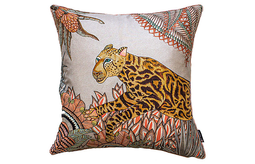 Cheetah Kings 16x16 Pillow, Magnolia Silk