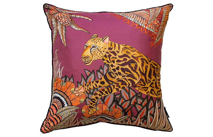 Cheetah Kings 16x16 Pillow, Plum
