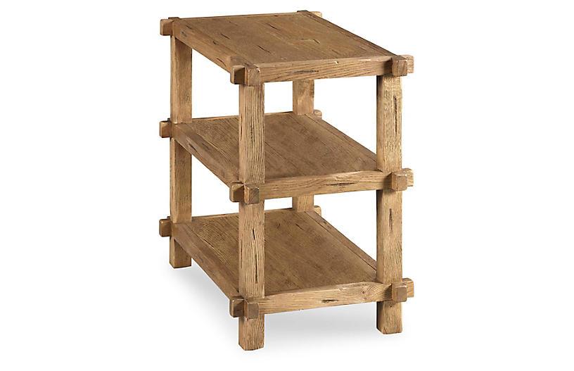 Joinery Side Tier Table, Breadboard