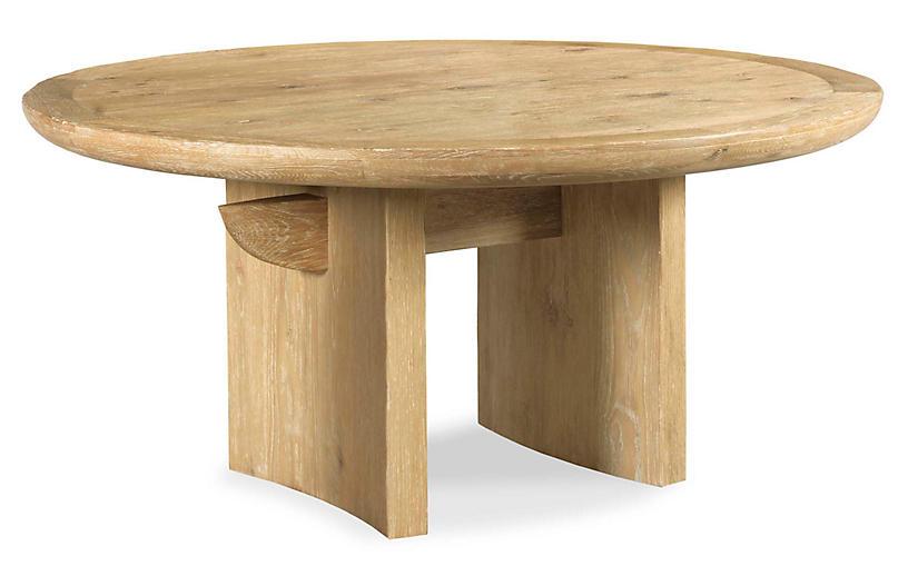 Modern Gathering Dining Table, Limewash
