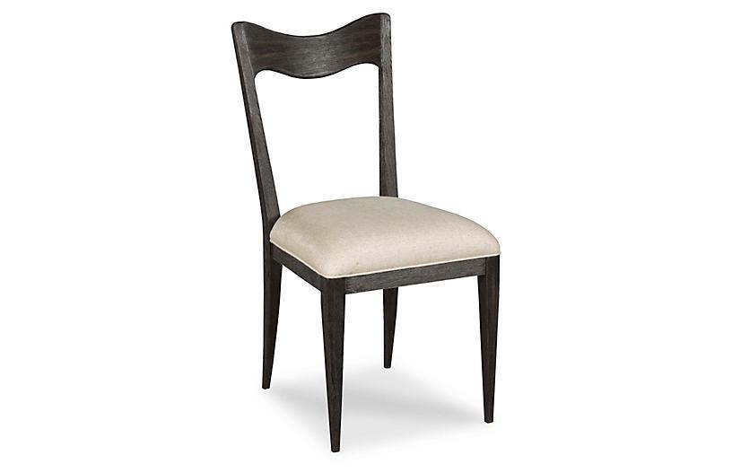 Silhouette Side Chair, Worn Black