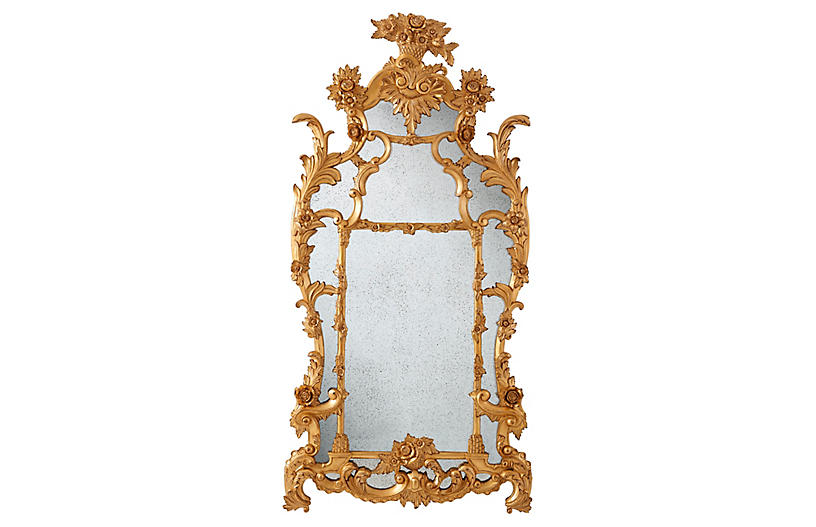 One Fifth Mirror, Black Laquer/Gold