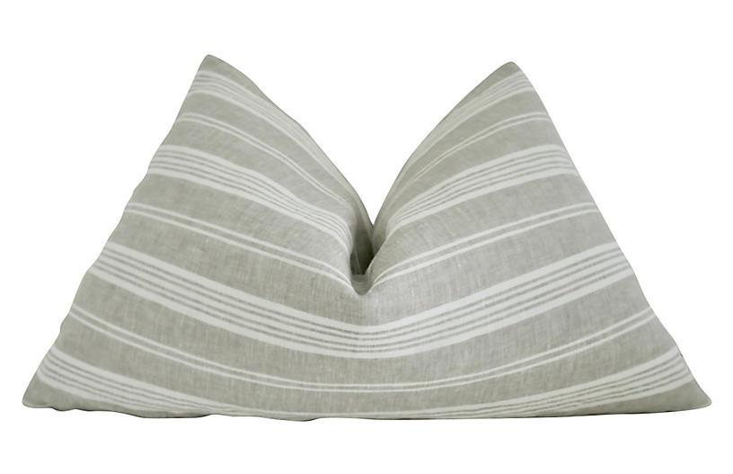 Malta 25x16 Lumbar Pillow, Sand/White