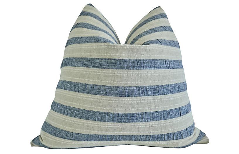 Giorgio 24x24 Pillow, Blue/Sand