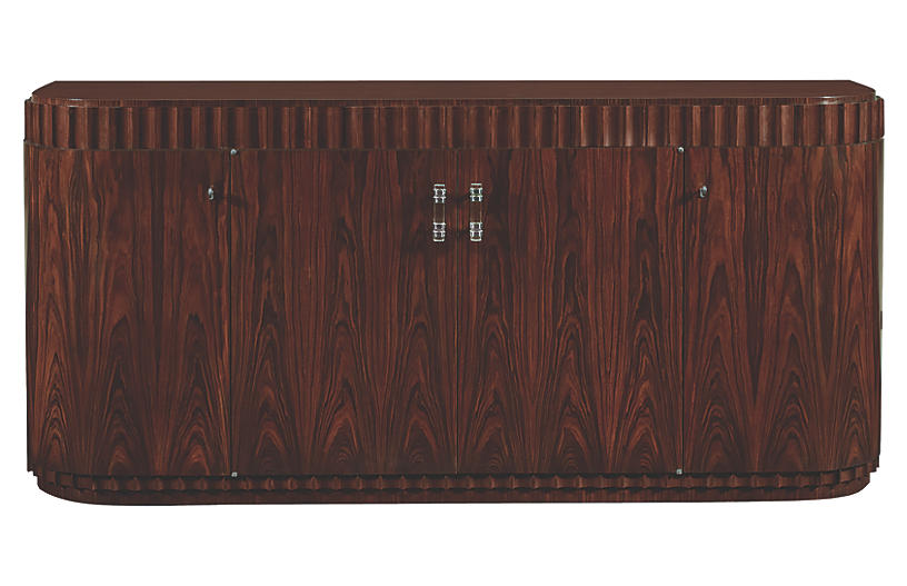 Art Deco Dining Cabinet, Penthouse Rosewood/Nickel