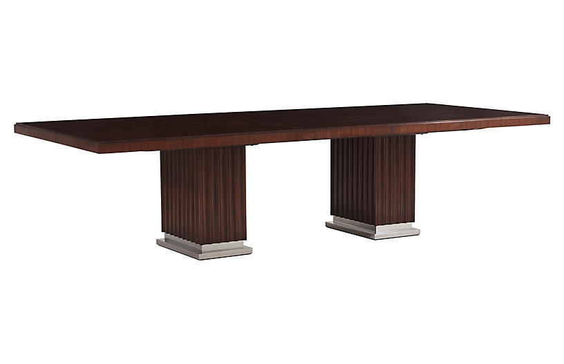 Duke Pedestal Dining Table, Penthouse Rosewood