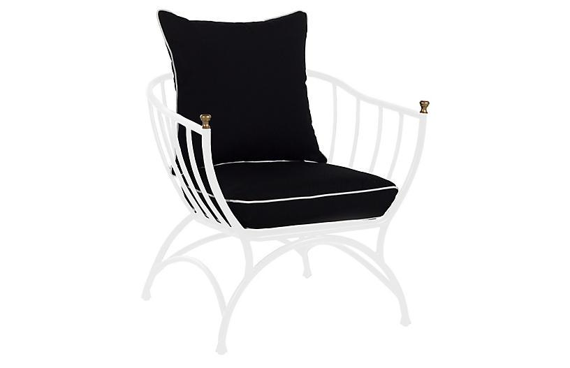 Frances Accent Chair, Black/White
