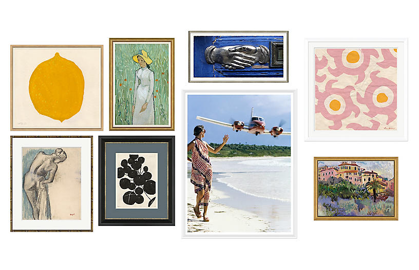 8-Pc Eclectic Gallery Wall