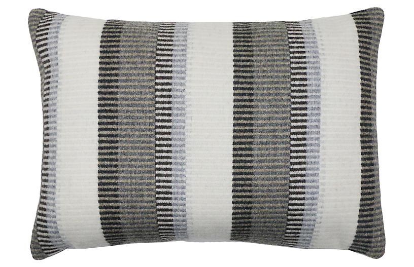 Arthur 14x20 Lumbar Pillow, Gray/Taupe
