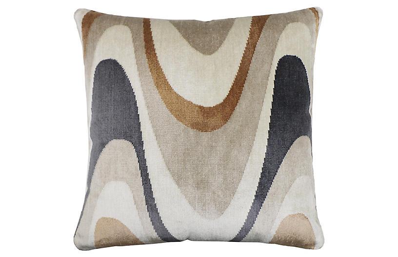 Harlow 22x22 Pillow, Umber Velvet