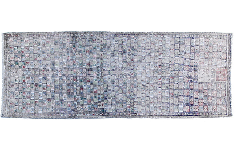 2'x7' Turkish Alia Rug, Gray