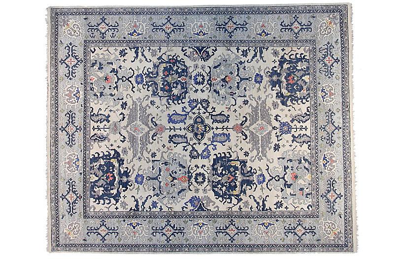 12'x15' Sari Michelle Rug, Ivory/Light Blue