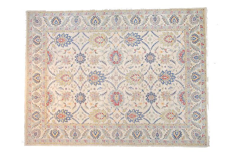 9'x12' Sari Oushak Mel Rug, Ivory