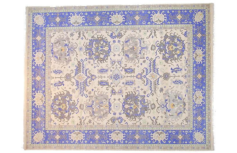 9'x12' Sari Oushak Otto Rug, Ivory