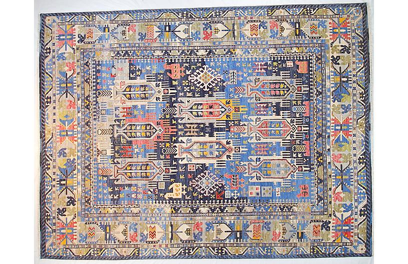 9'x12' Sari Julian Rug, Navy Blue