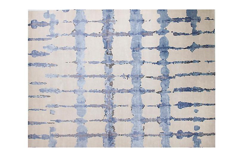 9'x12' Ocean Rug, Taupe/Blue