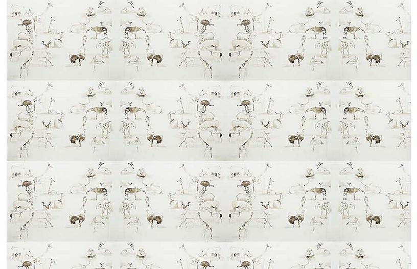 Mary H. Case Sm. Animals Wallpaper, Multi