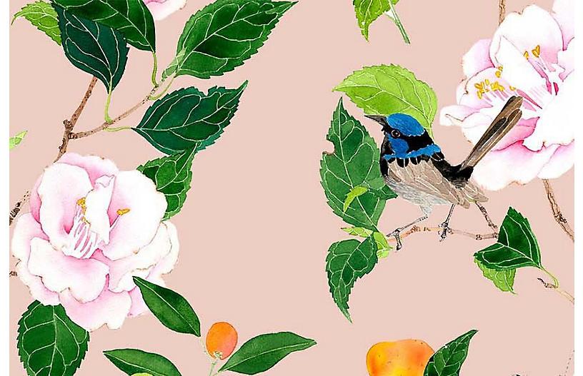 Gabby Malpas Med. Pattern 1 Wallpaper, Dogwood
