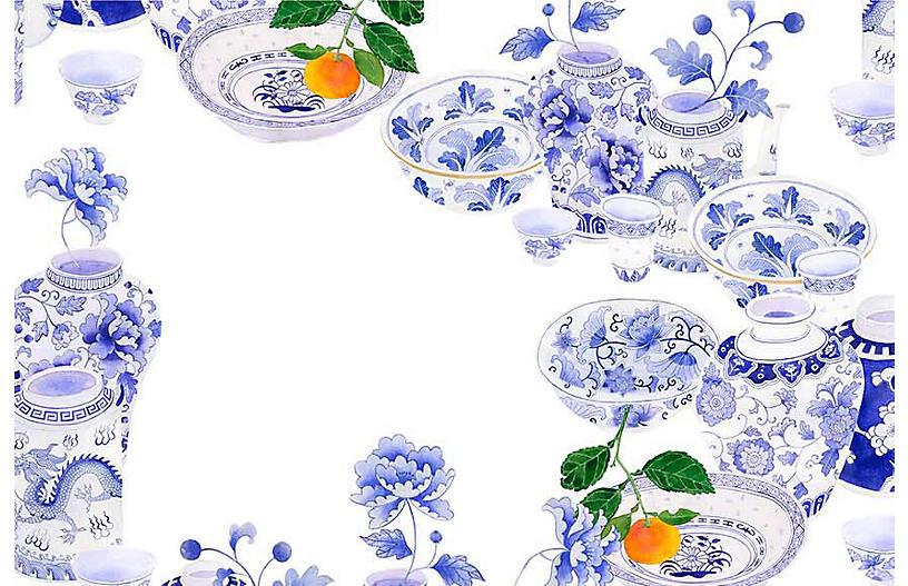 Gabby Malpas Med. Pattern 3 Wallpaper, Blue