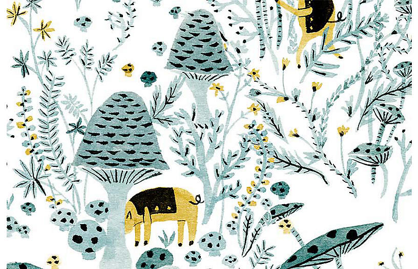 Vikki Chu Lg. Mushroom Pigs Wallpaper, Multi