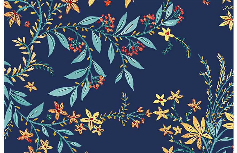 Vikki Chu Lg. Blue Yellow Wallpaper, Multi