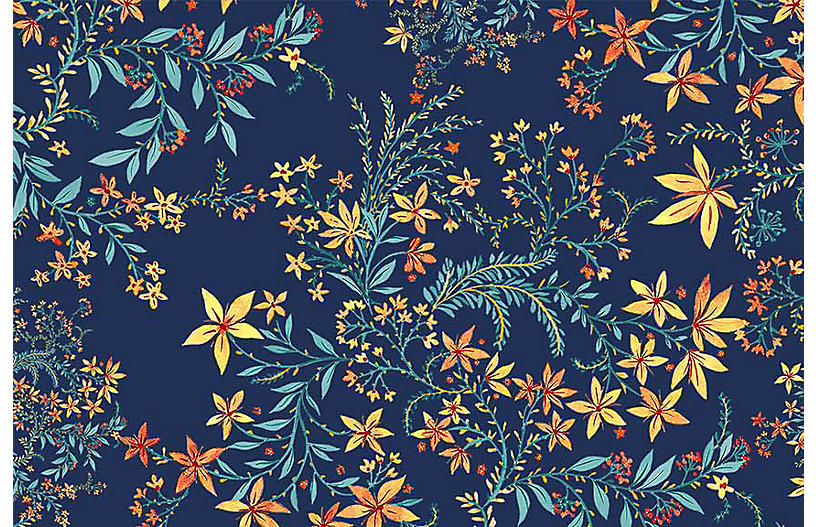 Vikki Chu Med. Blue Yellow Wallpaper, Multi