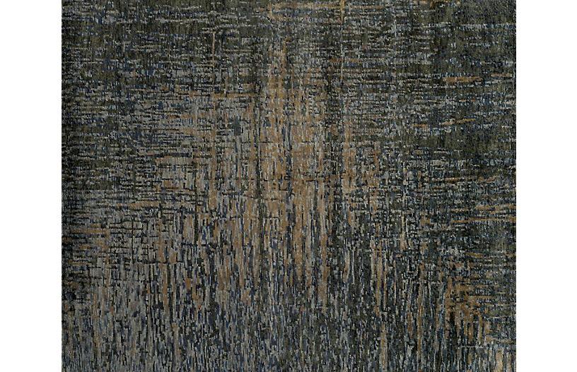 Anwar Hand-Knotted Rug, Peppercorn